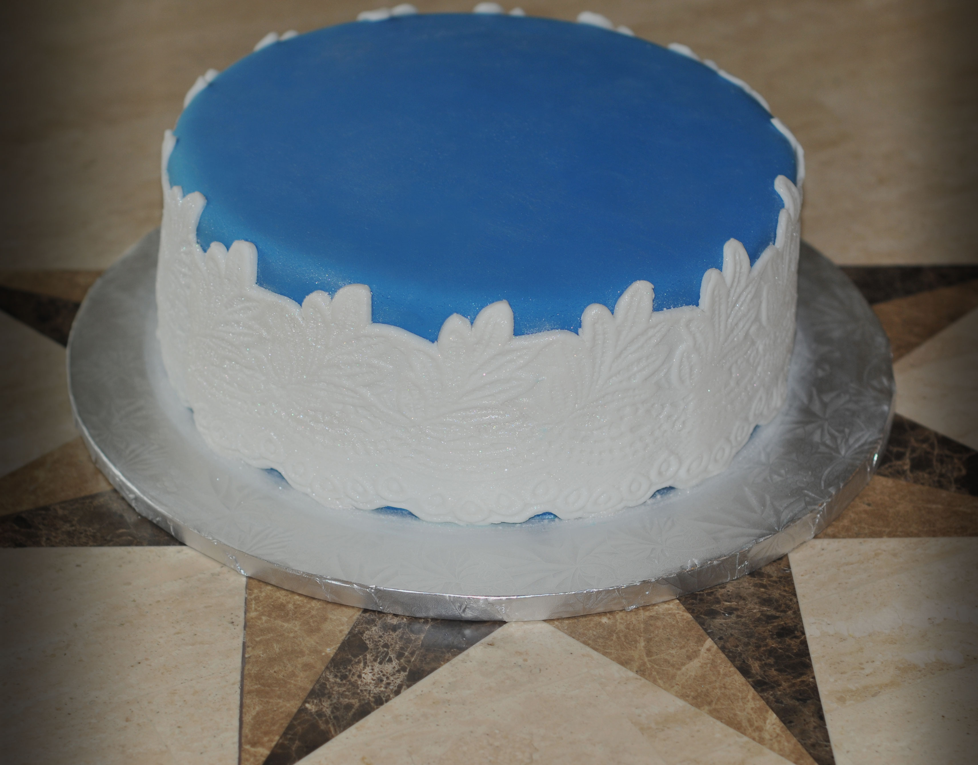 Blue Laced Cake