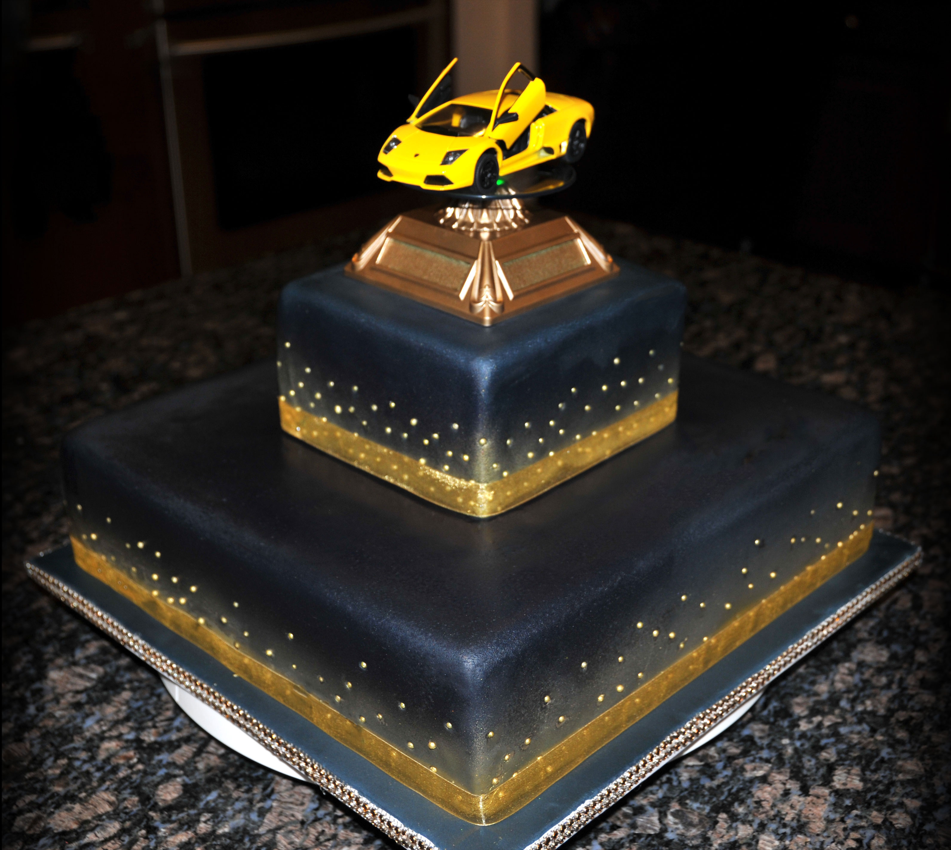 Lamborghini in the Stars Cake