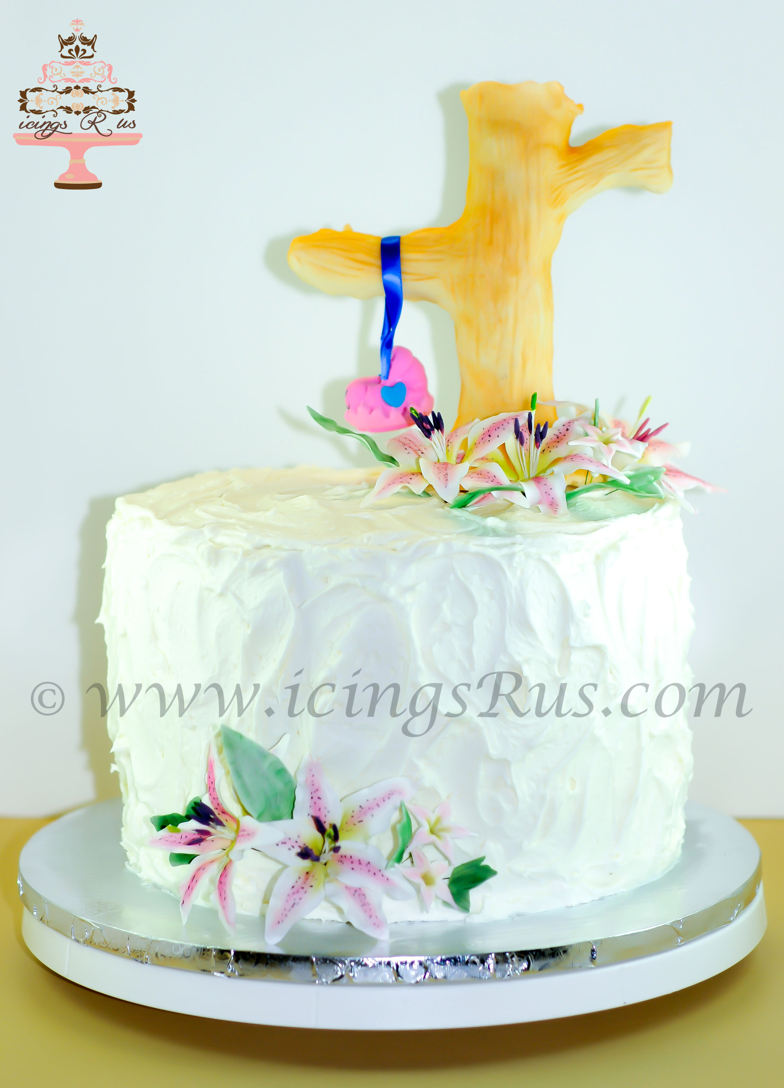 icingsRus Baby Carriage in a Tree Cake