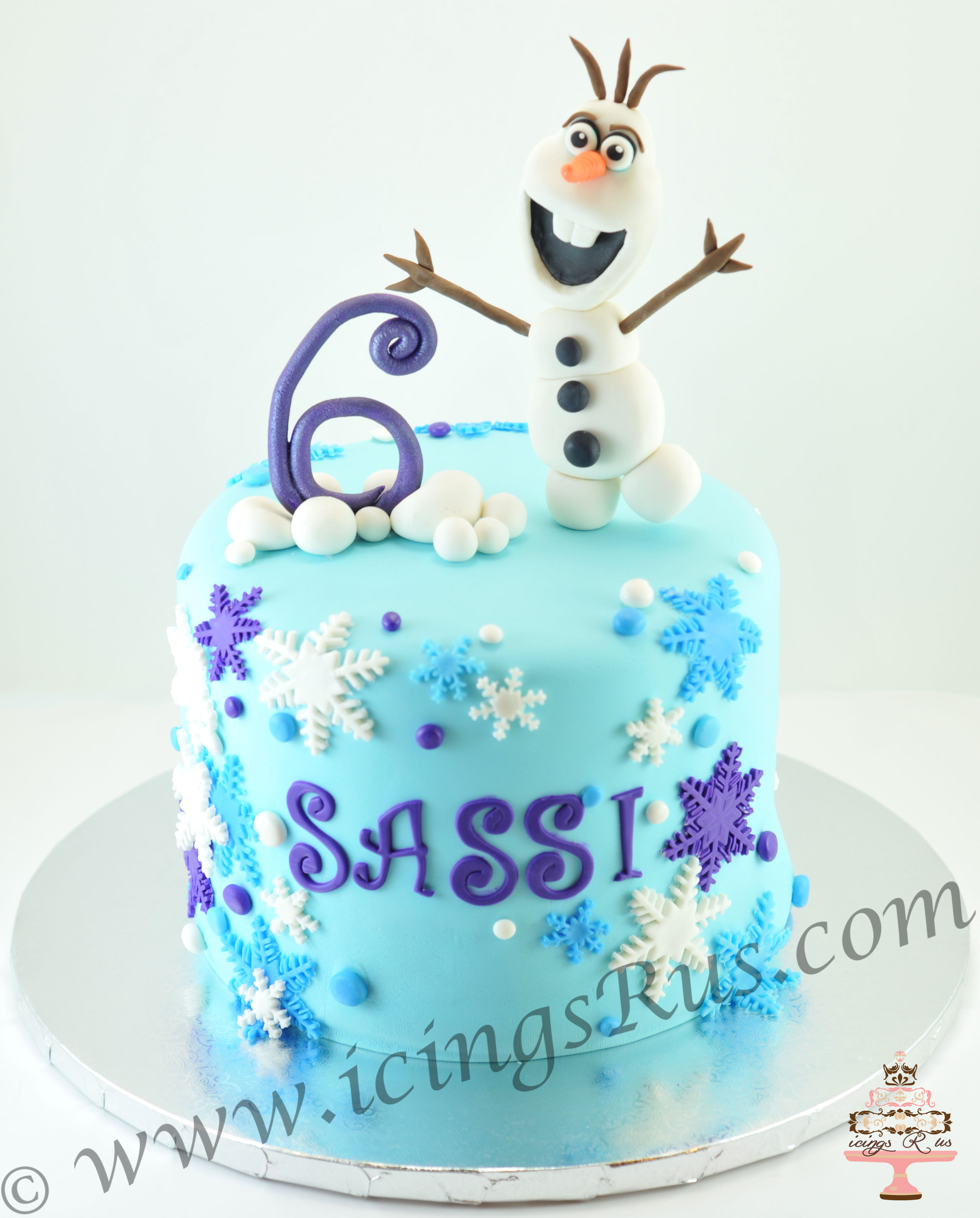Frozen-Olaf-Birthday-Cake