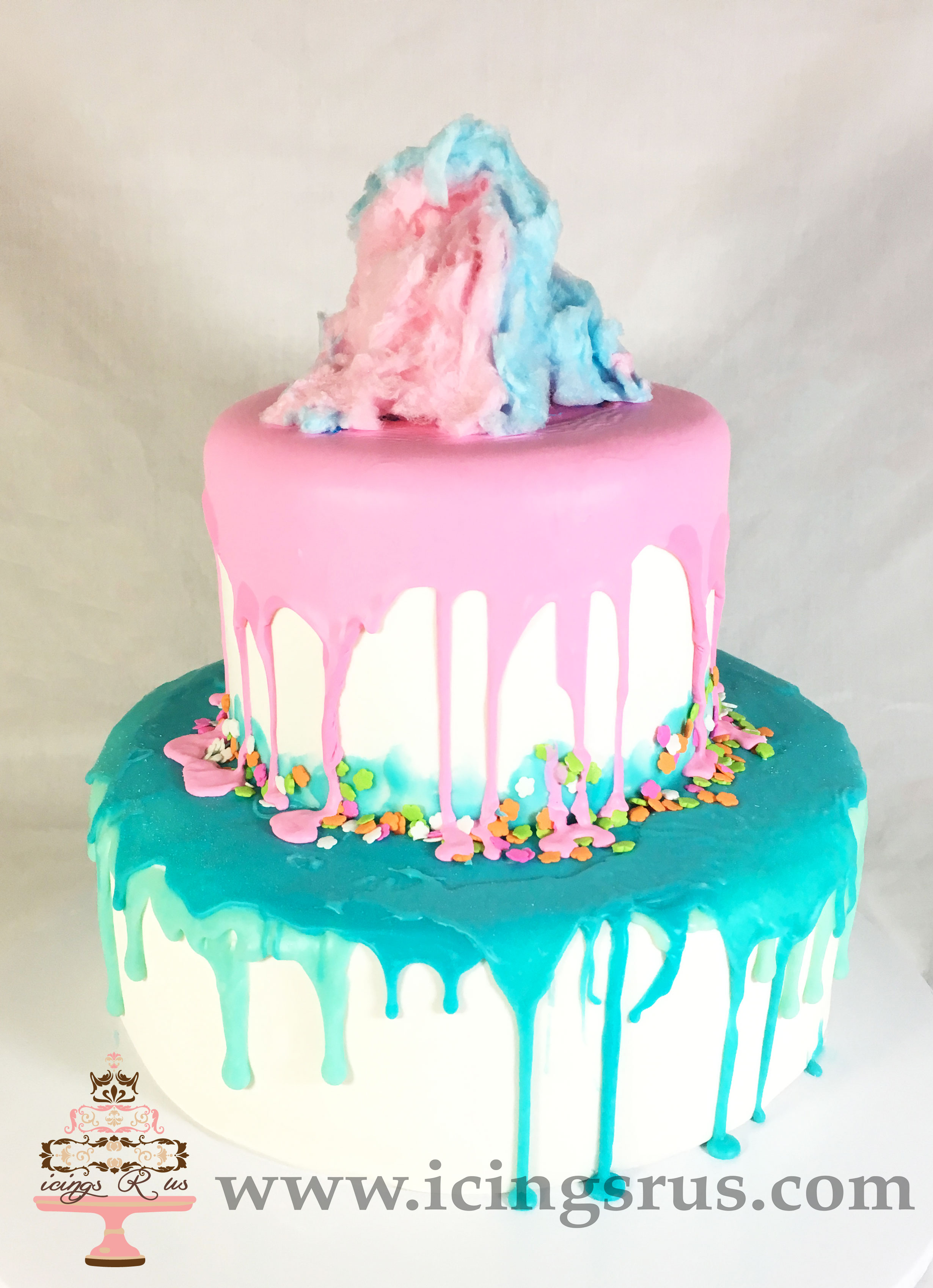 Cotton Candy Melt Cake With Icings R Us