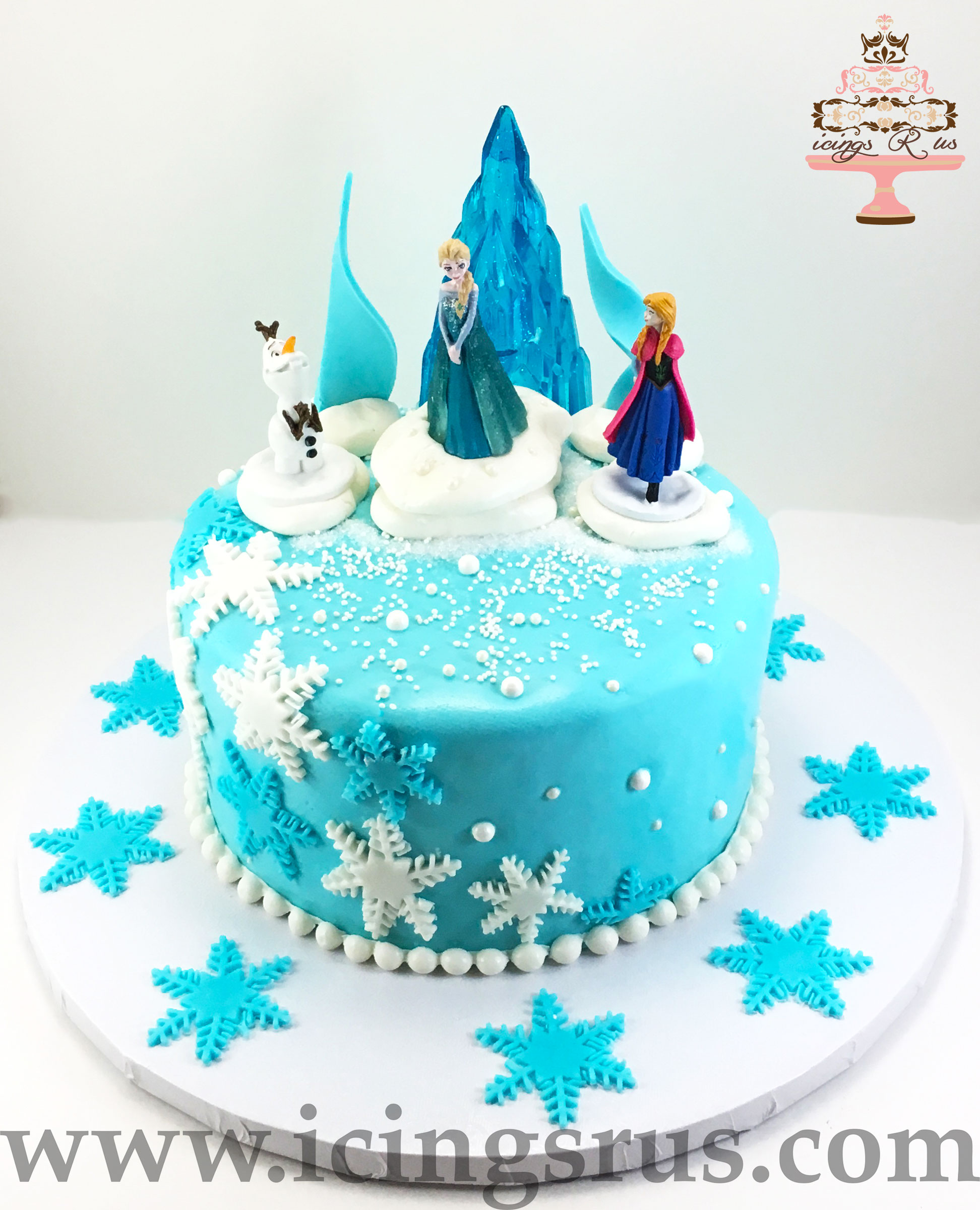 frozen-glass-ice-castle-anna-elsa-birthday-cake
