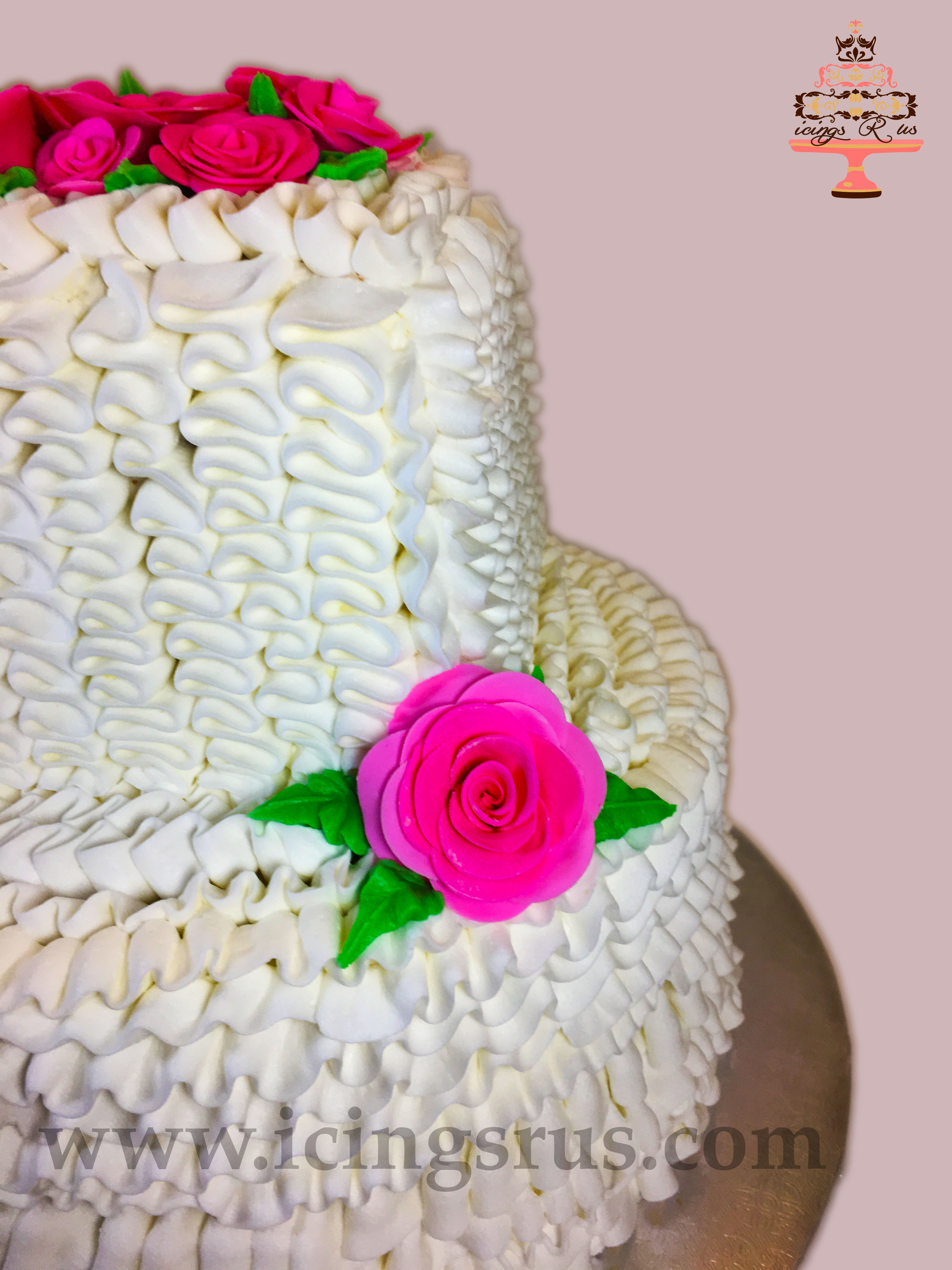 Frill and Flower Anniversary Cake