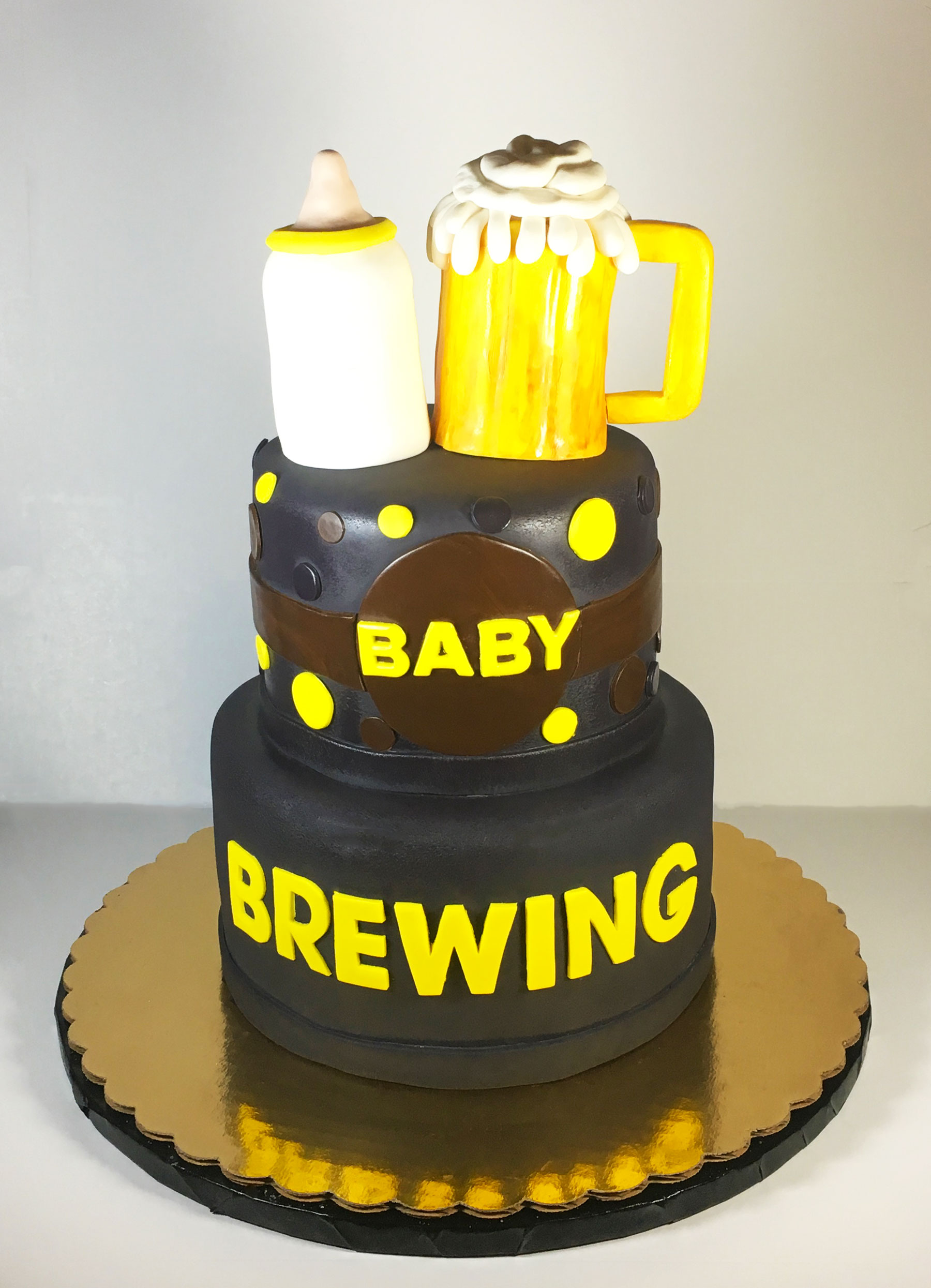 Baby Shower Brewing Cake