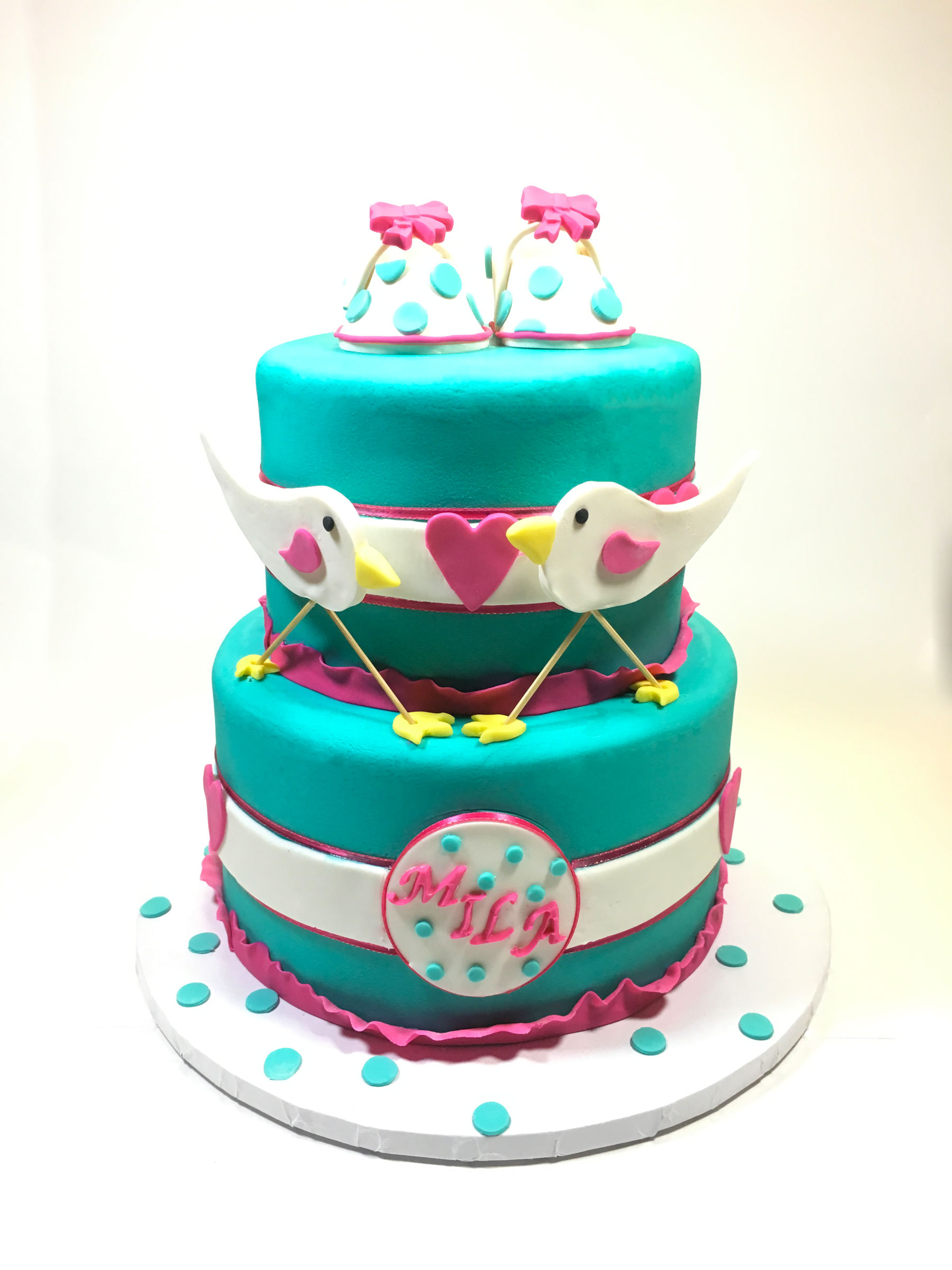 teal-tweeting-bird-cake